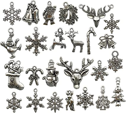 PENDANTS FAST FREE SHIPPING 10 GORGEOUS XMAS REINDEER CHARMS