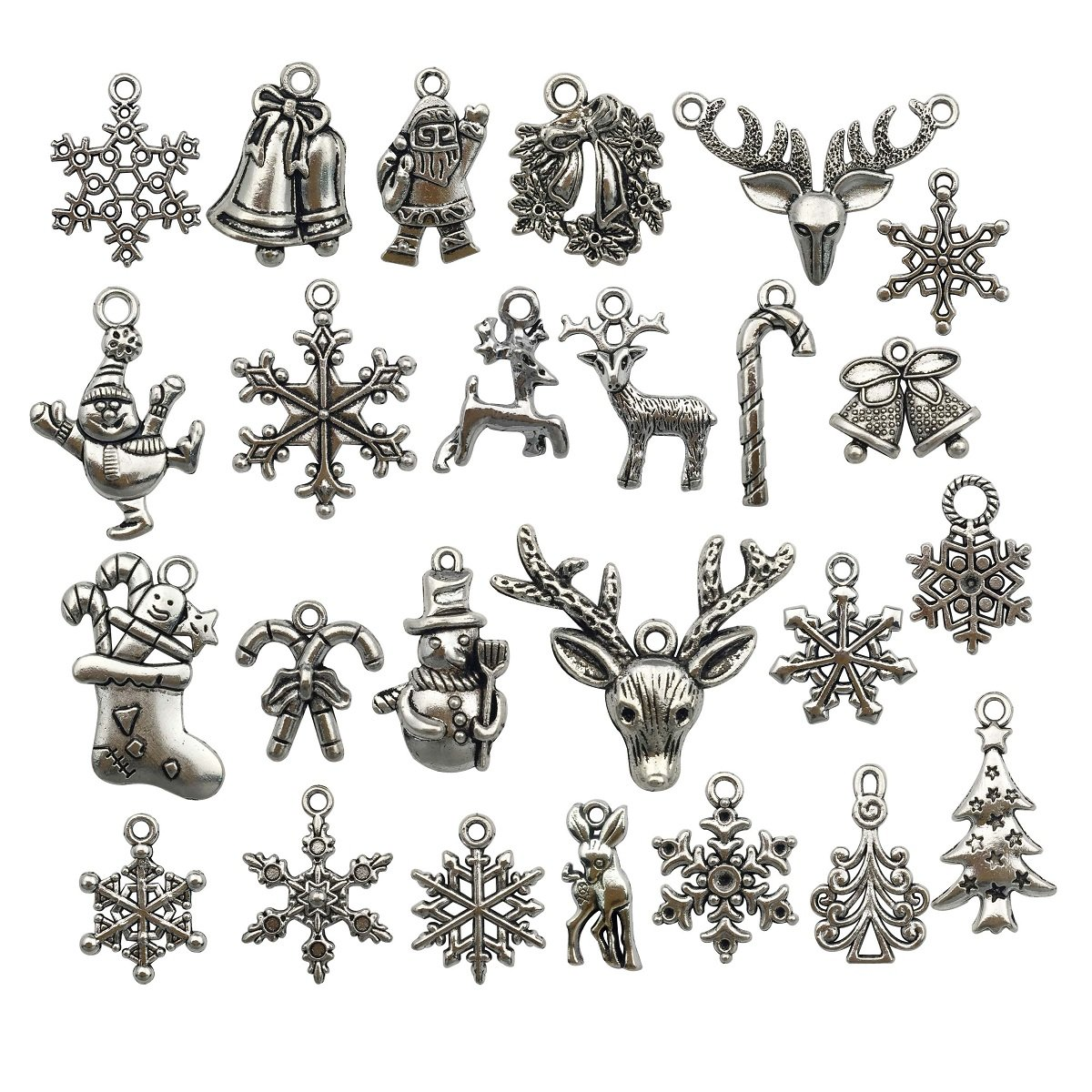 Halloween Charm-100g(about 55-60pcs) Antique Silver Halloween Collection Craft Supplies Charms Pendants for Crafting, Jewelry Findings Making Accessory For DIY Necklace Bracelet (Halloween Collection) iloveDIYbeads