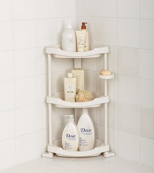 Amazon Com Tenby Living Corner Shower Caddy 3 Shelf Shower Organizer Caddie With Movab Home Improvement