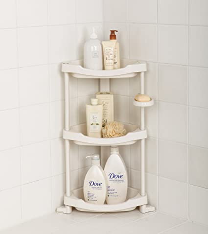 Amazon.com: Tenby Living Corner Shower Caddy - 3 Shelf Shower ...