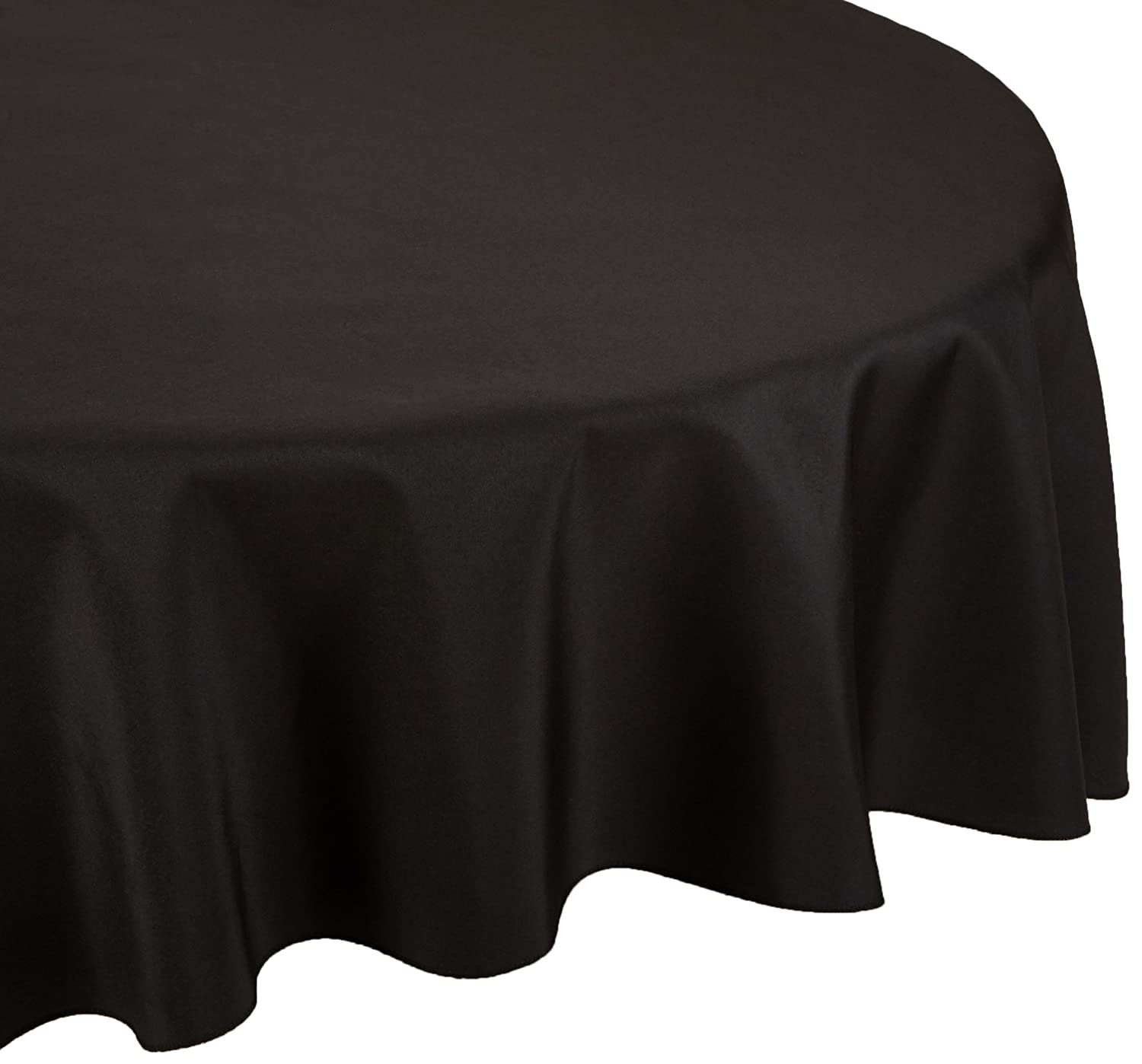 Amazon.com: LinenTablecloth 108 Inch Round Polyester Tablecloth Black: Home  U0026 Kitchen