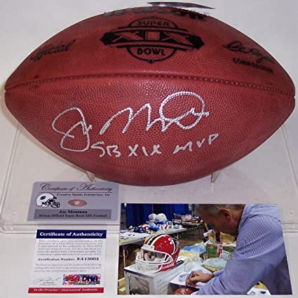 Image Unavailable. Image not available for. Color  Joe Montana Autographed  Hand Signed Super Bowl ... a4181a559
