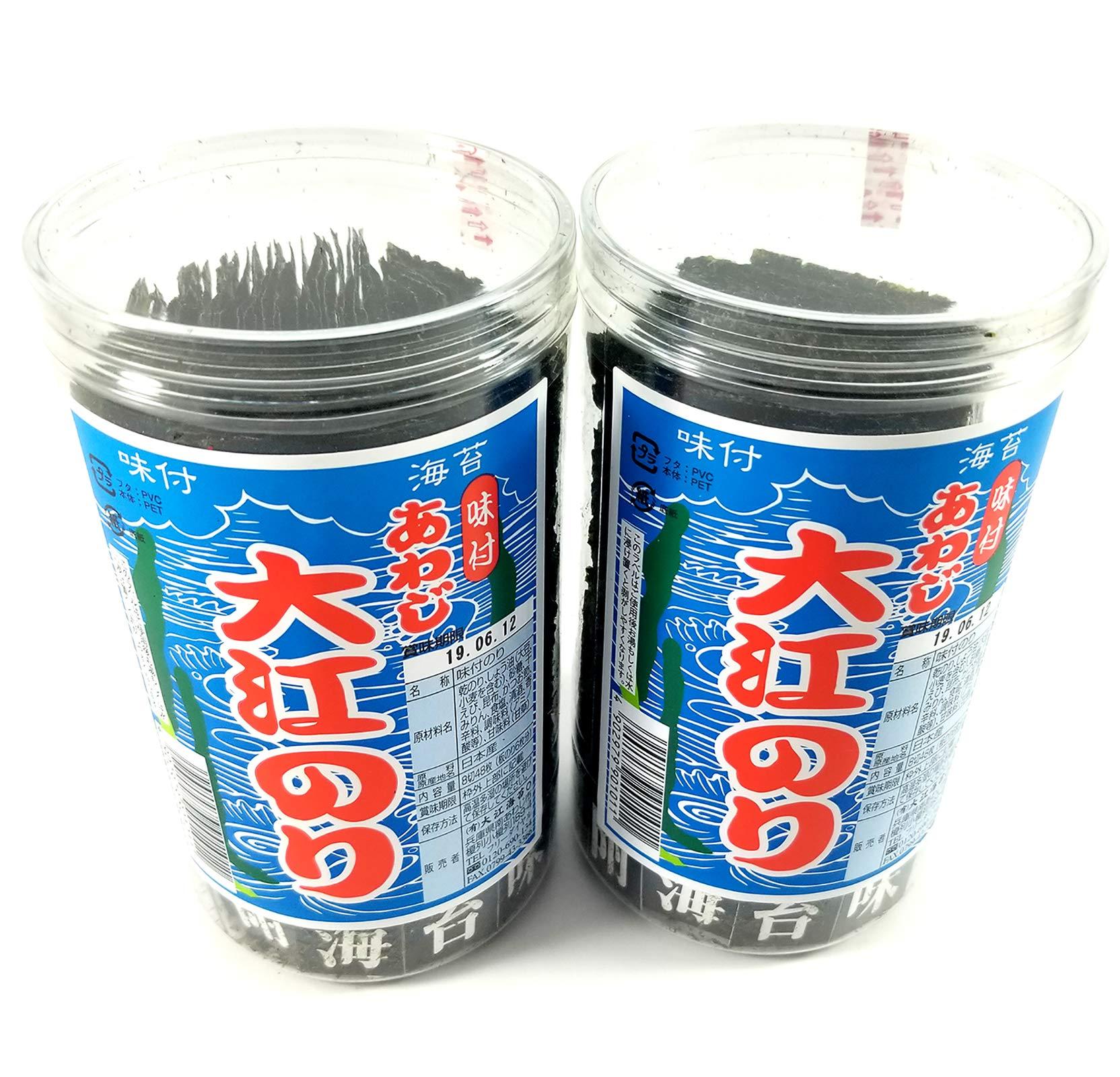DOUNGURI Awaji Oe Nori - Organic Natural Gluten Free Seaweed Strip Sheets Snack Pack with Sea Salt and Kelp I 48 Counts I Crispy, Flavorful, Low Calorie, Healthy, Vegan, No MSG (2) by Dounguri (Image #1)
