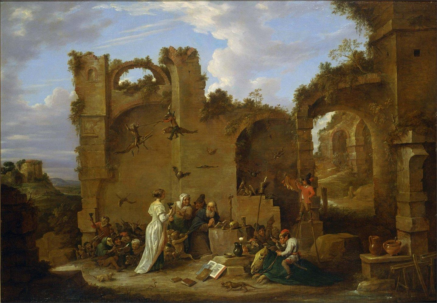 Картинки по запросу тенирс искушение святого антония