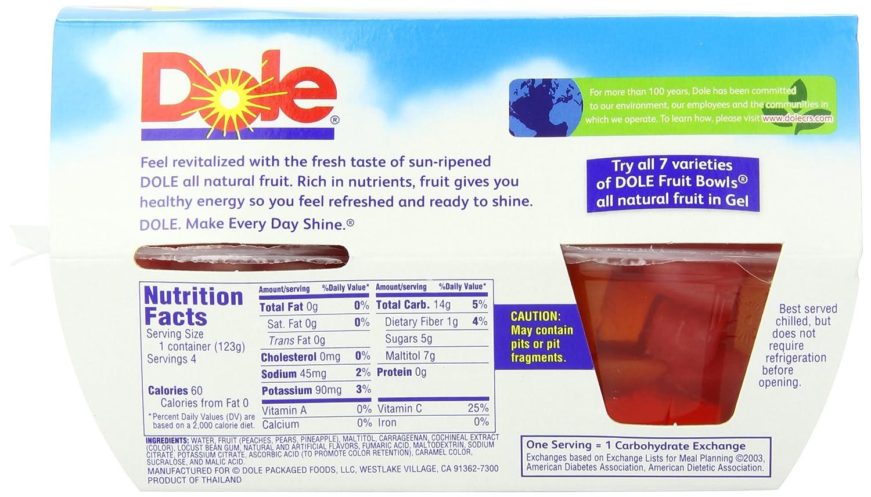 Dole Jello Fruit Cup Nutrition Facts - Nutrition Ftempo