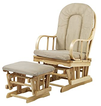 Terrific Kub Sherwood Glider And Footstool Cream Upholstery Amazon Cjindustries Chair Design For Home Cjindustriesco