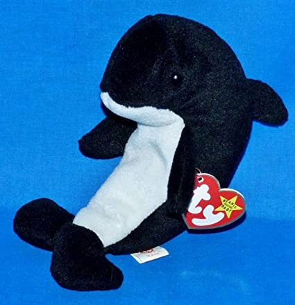 Amazon.com  Ty Beanie Babies - Waves the Orca Whale with Echo Tags (Error  Tags)  Toys   Games eccbe7466554