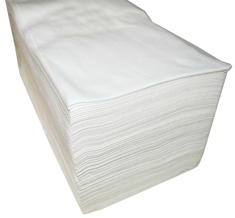 Asciugamani Monouso 40x 80cm, in spunlace, 100unità, parrucchiere/estetica, colore: bianco. Plasticaps