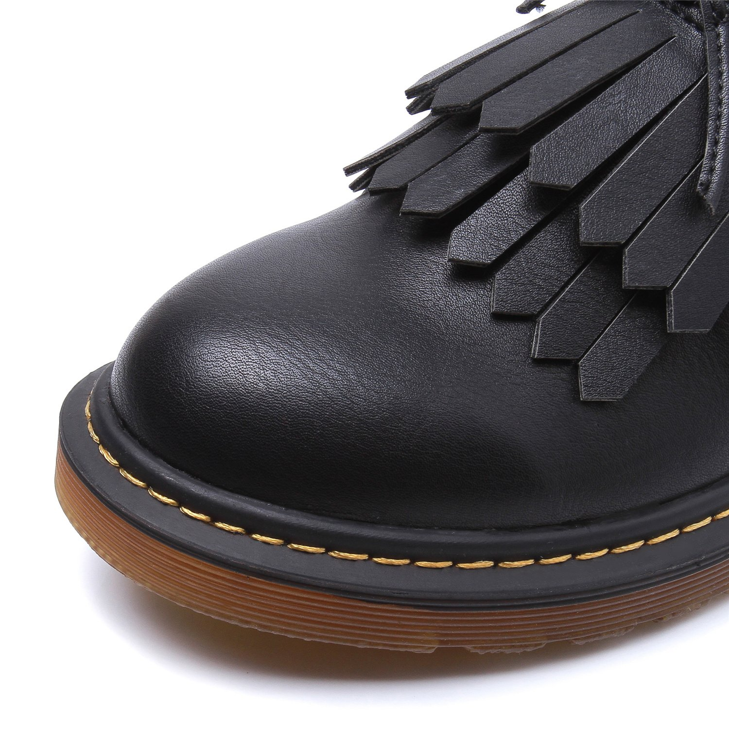 Smilun Lady¡¯s Brogues Classic Lace-Up Flats Shoes For Autumn Winter Spring Slip On Black Size 10 B(M) US by Smilun (Image #3)