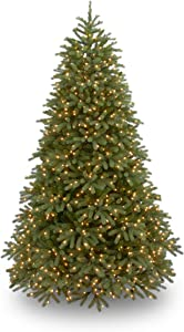 National Tree Company 'Feel Real' Pre-lit Artificial Christmas Tree   Includes Pre-strung White Lights and Stand   Jersey Fraser Fir Medium - 7.5 ft