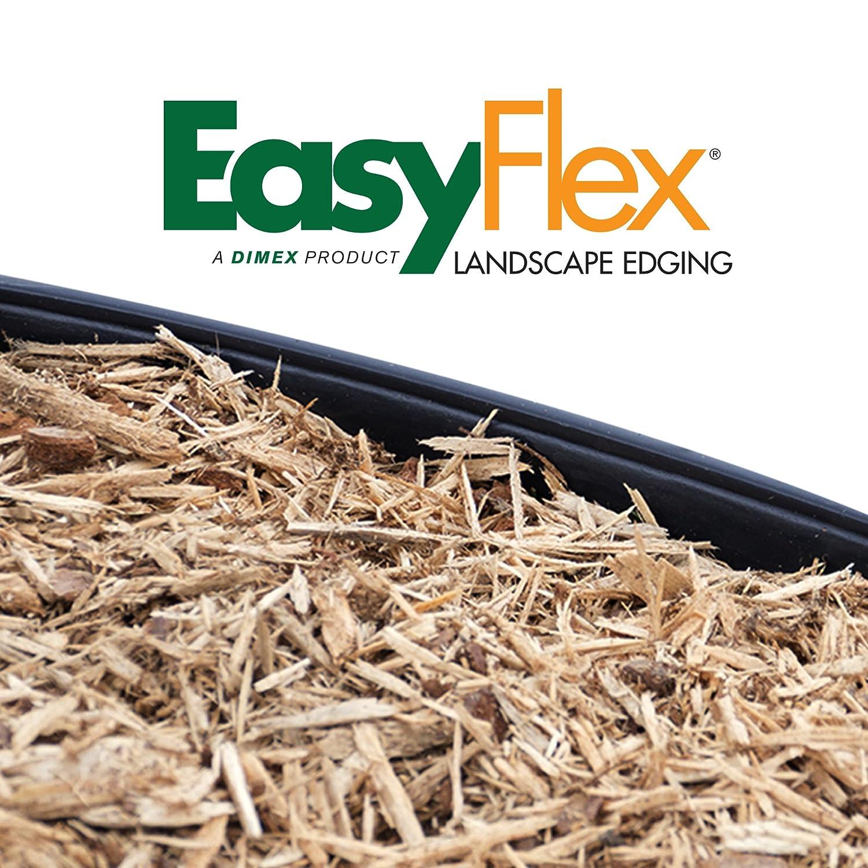 Dimex EdgePro Plastic Heavy Duty No-Dig Landscape Edging Kit, 20-Feet 3100-20C-6