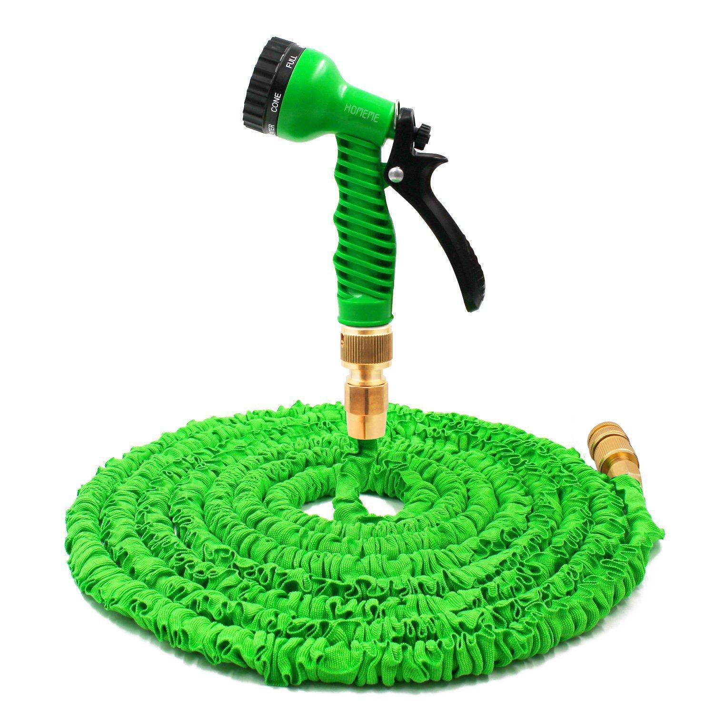 homeme 100ft expandable flexible garden hose solid brass hose