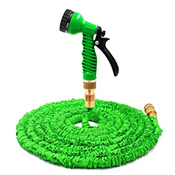 Homeme 100FT Expandable Flexible Garden Hose Solid Brass Hose