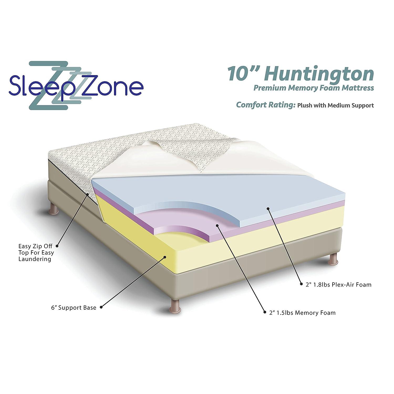 Amazon Sleep Zone Huntington 10 inch Queen size Memory Foam