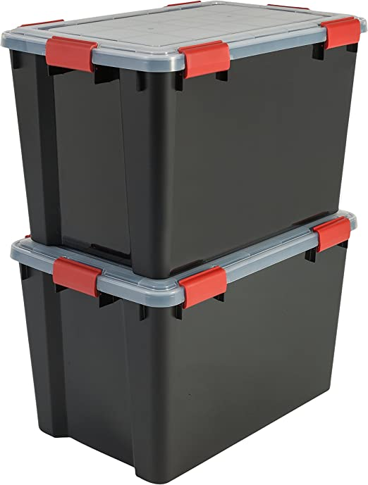 Iris Ohyama, lote de 2 latas herméticas de almacenamiento - Air ...