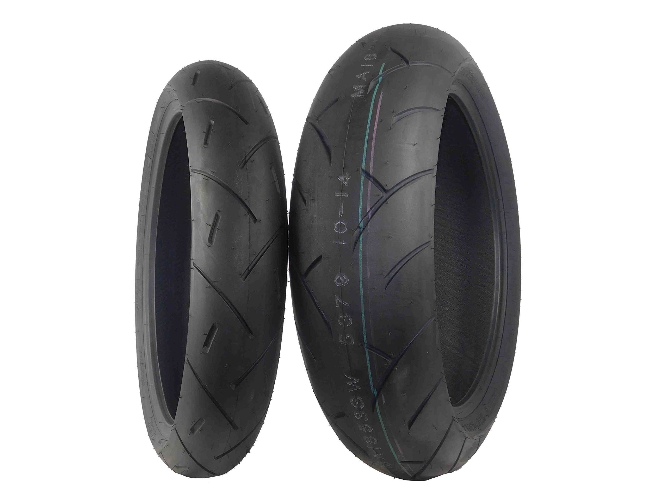 Full Bore M1 Tire Set (1 Front 120/60ZR17 & 1 Rear 180/55ZR17) 120/60-17 180/55-17 Pair