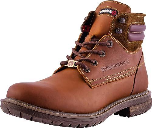 Swissbrand Mens Hiking Boots Brown Size