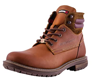 9a7cbbc4c1c Swissbrand Men s ZUG Waterproof Leather w Traction Sole Hiking   Work  Outdoor Boots (7