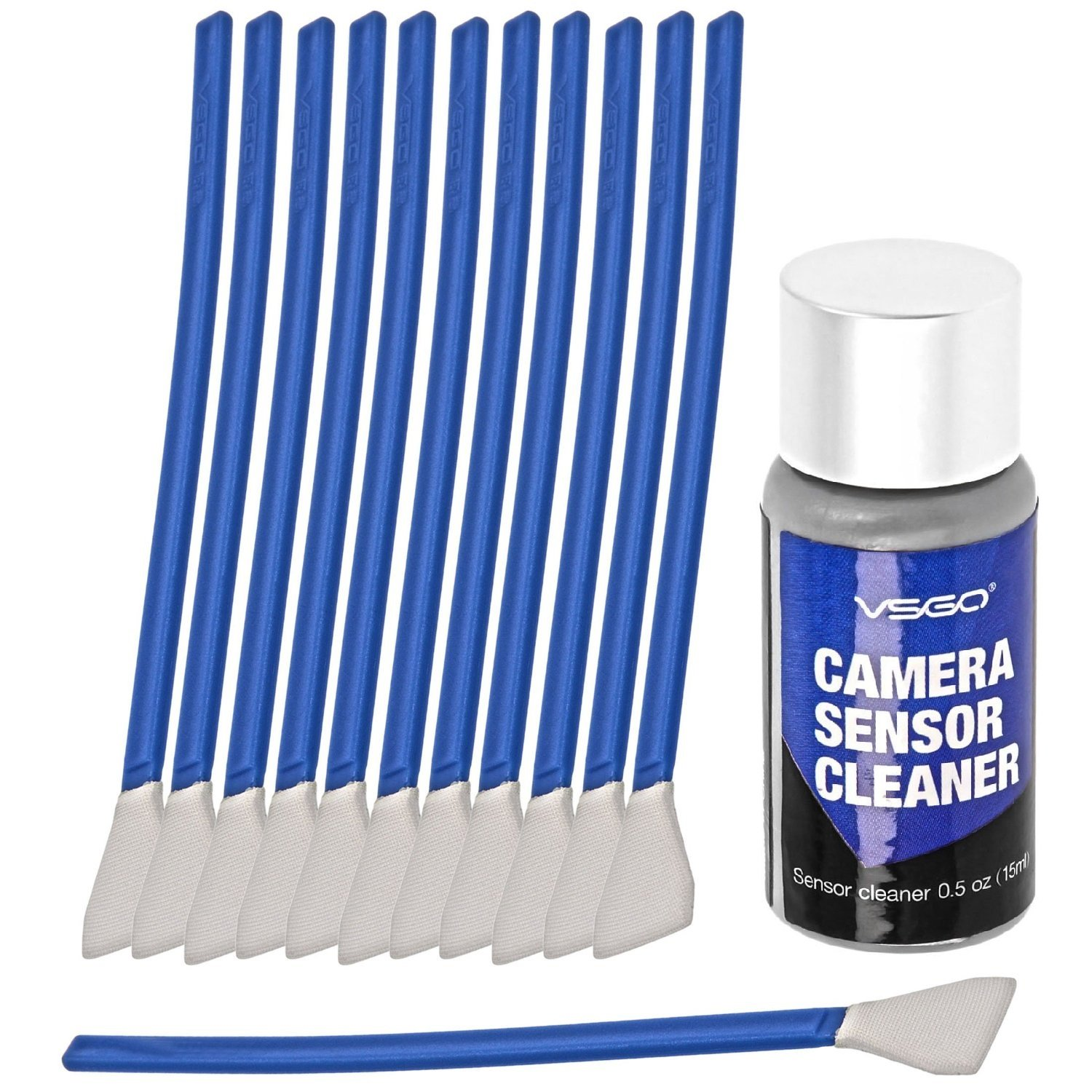APS-C Frame (CCD/CMOS) Digital Camera Sensor Cleaning Swab Type 2 Cleaning Kit (Box of 12 X 16mm Swab + 15ml Sensor Cleaner) by UES