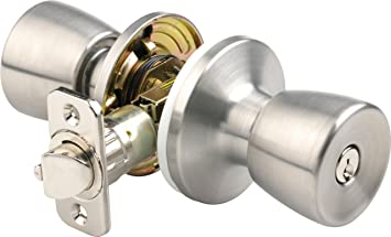 Lock Set  Stainless Steel  New with keys Mobile home  Entry Tulip Door Knob