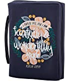 Creative Brands Faithworks - French Press Mornings Canvas Bible Cover, 7 x 10-Inch, Wonderfully Made