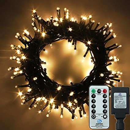 yosion led string lights with remote control 173ft 500 led warm white decorative lights for