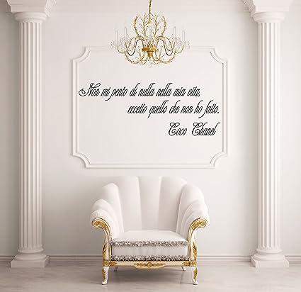 Adesiviamo Coco Chanel M Adesivo Murale Pvc Nero 85 X 27 Cm