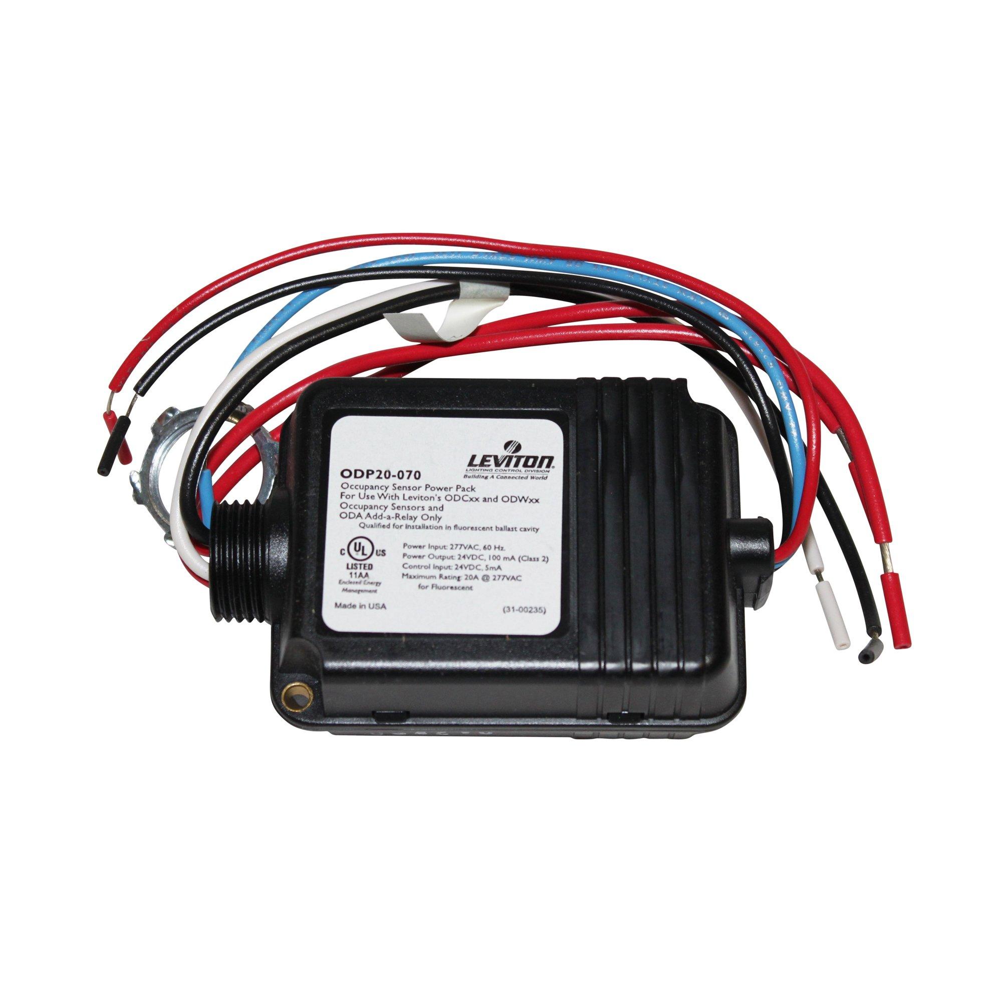 Leviton ODP20-70 Occupancy Motion Sensor Power Pack 20A 277V 60Hz Class 2