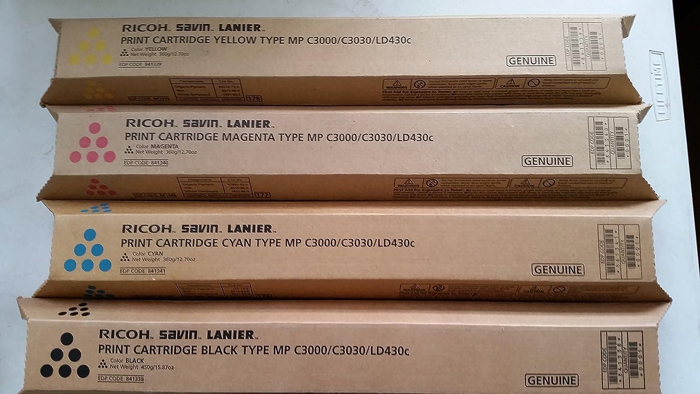 EDP 841752 GENUINE RICOH SAVIN LANIER YELLOW PRINT CARTRIDGE NEW MP C5502