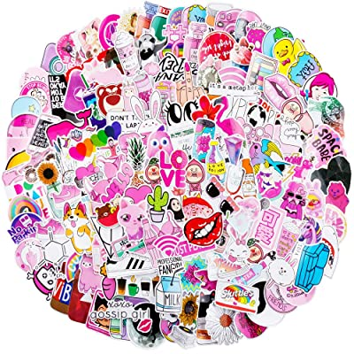 Yubbaex Cute Stickers 150 Pcs Skateboard Stickers Pack Cool Waterproof Paster for Girls (Pinky 150 Pcs): Computers & Accessories