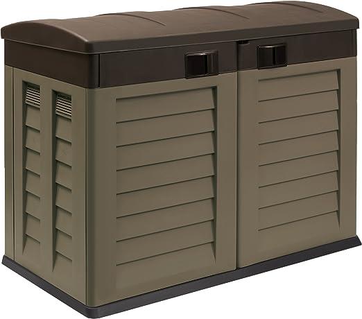 Proqom - Contenedor para jardín (plástico, para el hogar o caravana), color marrón: Amazon.es: Jardín