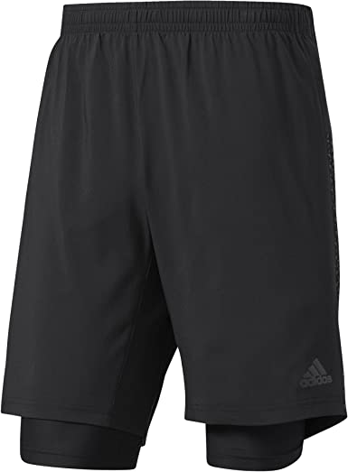 lavar esponja Enfadarse  adidas Supernova Dual Short Men's (Black, S - 7'') at Amazon Men's Clothing  store