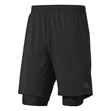 a322a045f5c Adidas Men's Supernova Dual Shorts: Amazon.co.uk: Sports & Outdoors