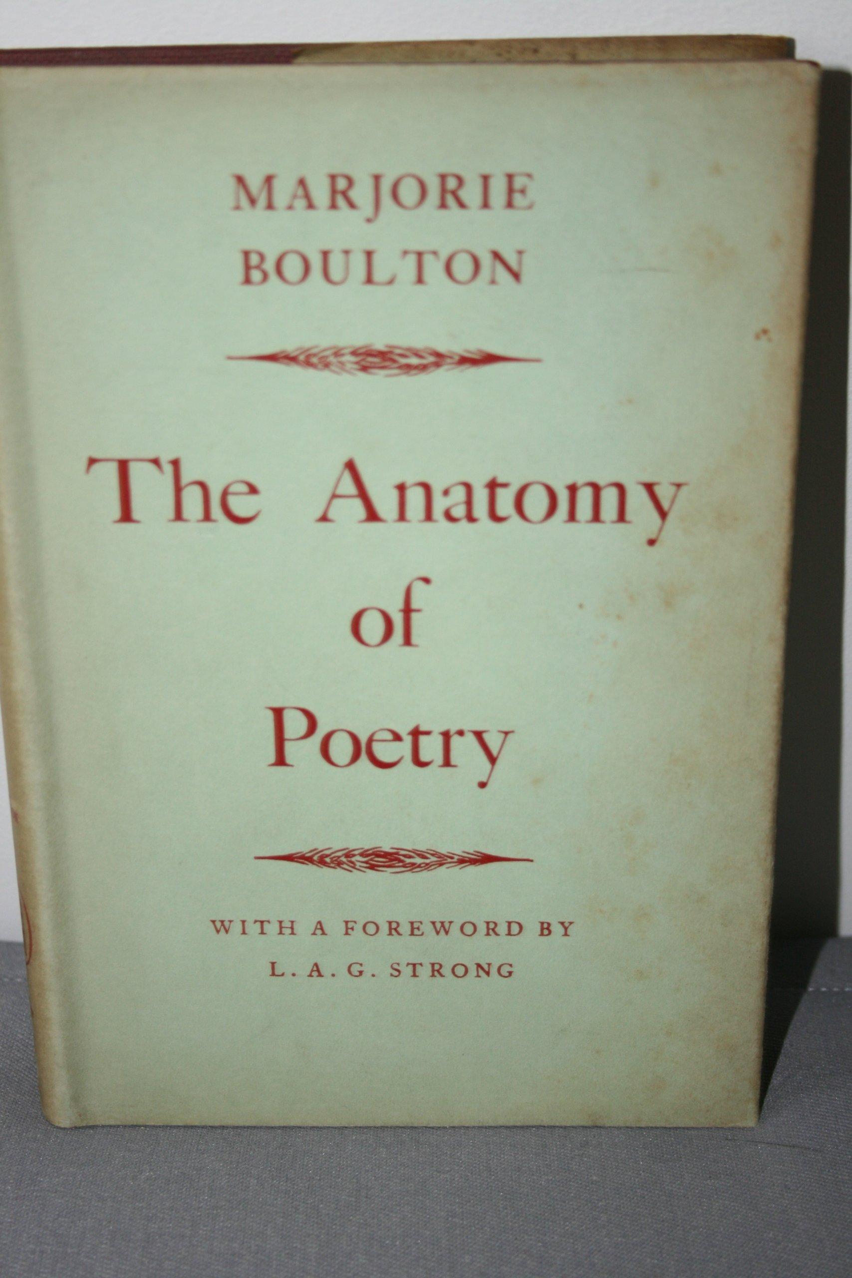 The Anatomy Of Poetry Amazon Marjorie Boulton 9780415039482