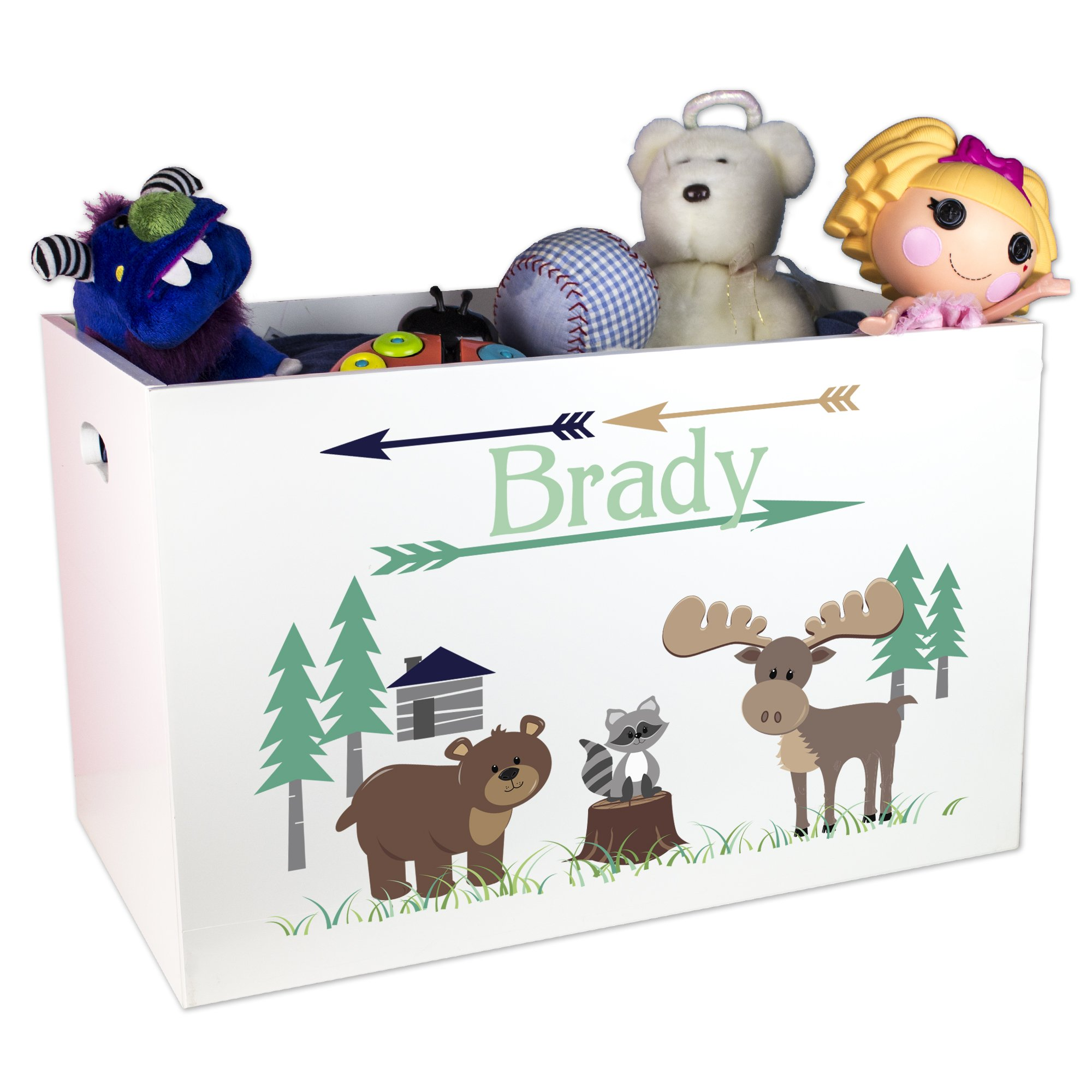 Personalized North Woodland Animals Toy Box