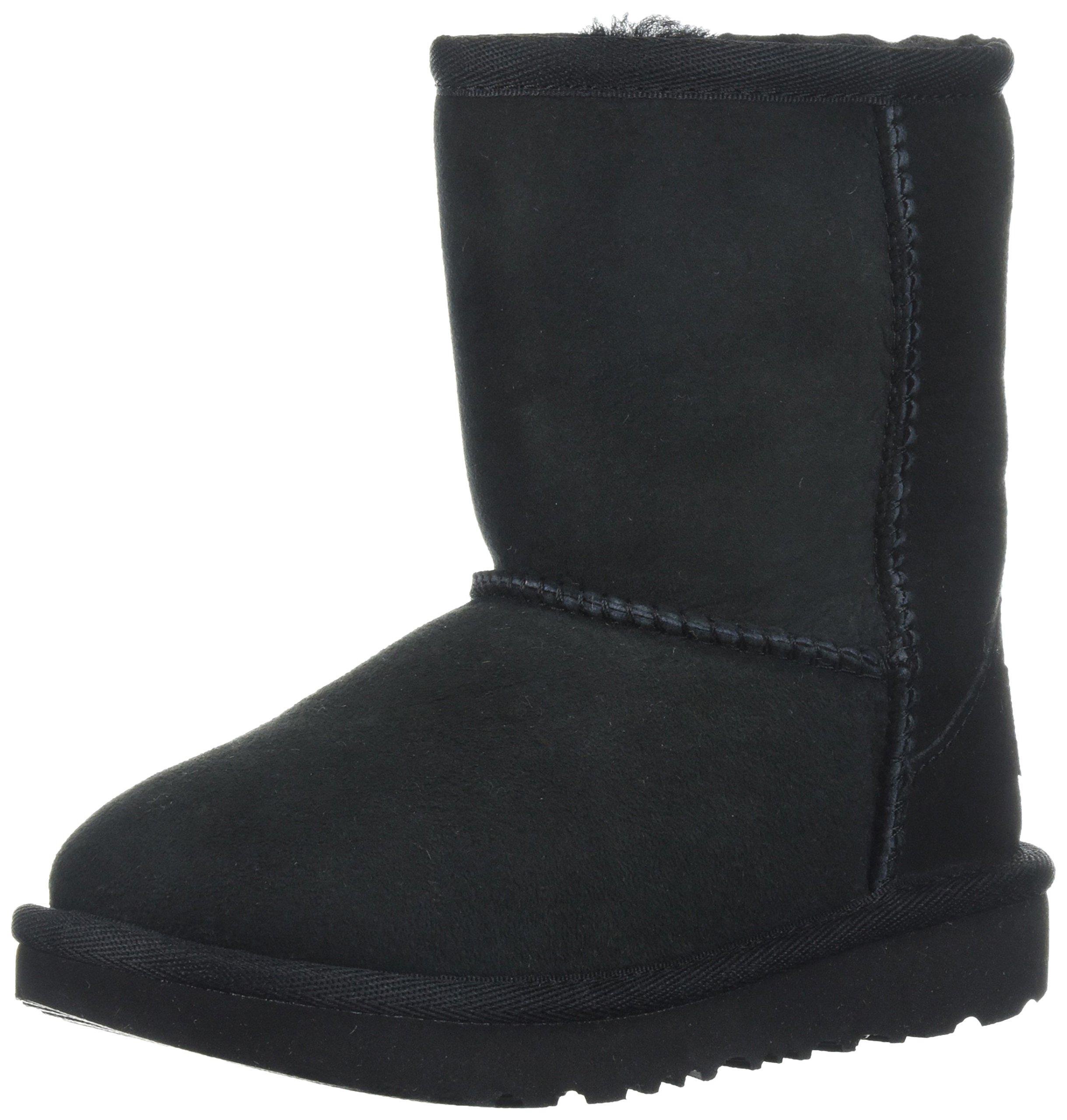 UGG Kids T Classic II Fashion Boot, Black, 8 M US Toddler