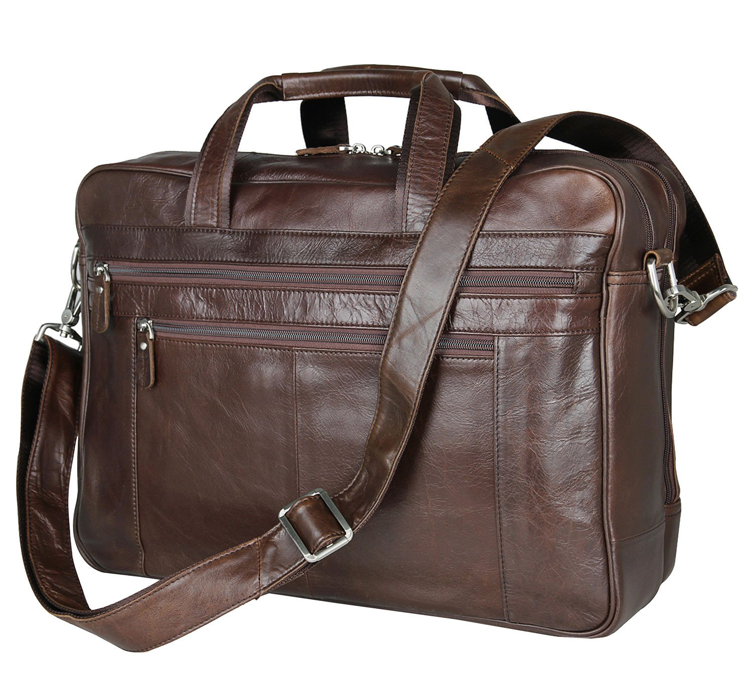 Laptop Bags, Berchirly Genuine Leather Work Office Brifecase Business Bag fits 17-inch Laptop