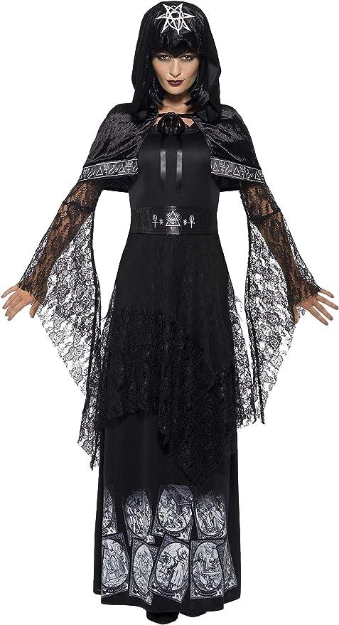 SmiffyS 45570M Disfraz De Dama De La Magia Negra Con Vestido ...