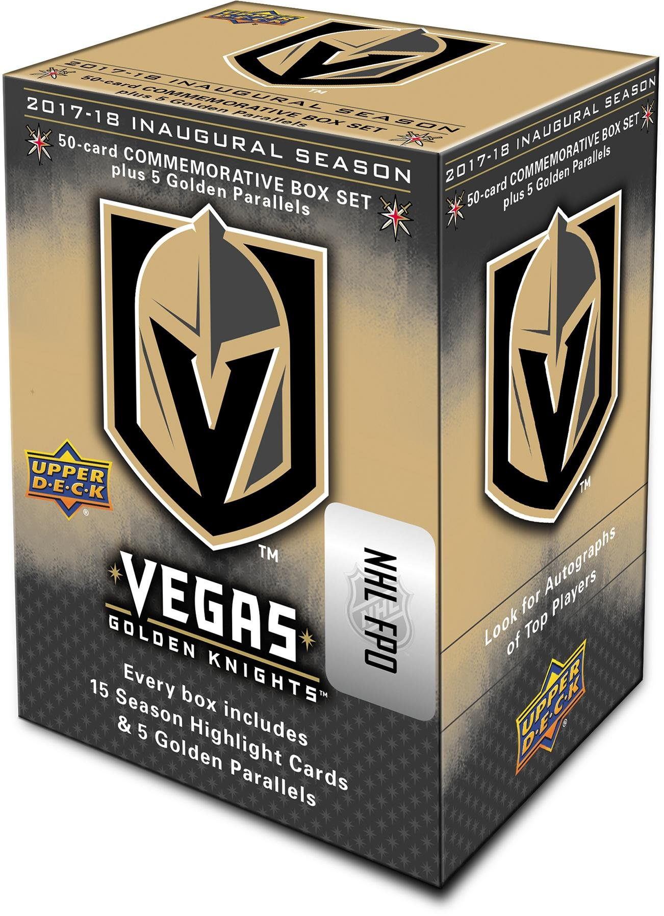 2018 Upper Deck Vegas Golden Knights Inaugural Season Commemorative 55 Card Set Hockey Team Sets