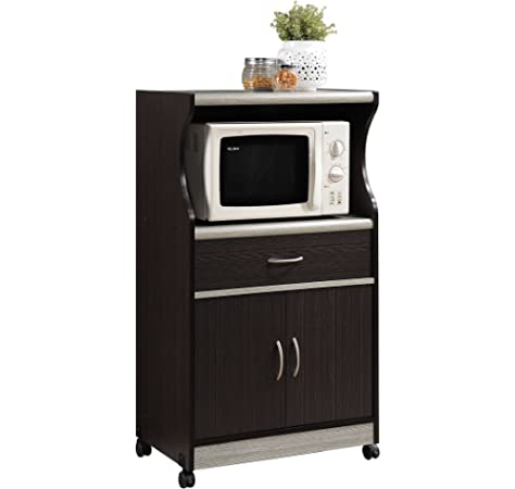 Amazon.com: Hodedah Kitchen Island with Spice Rack, Towel ...