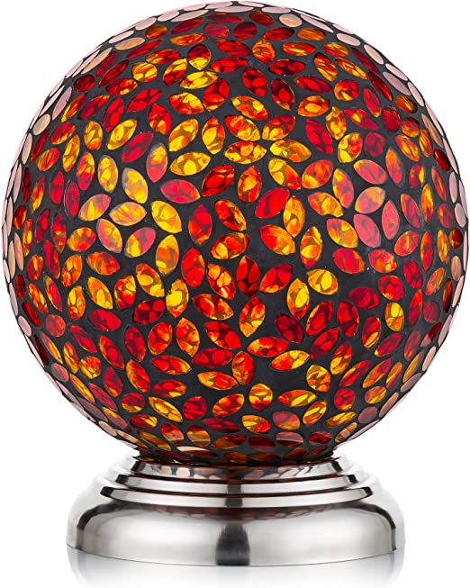 HomDSim - Bola de Cristal para jardín, diseño de Mosaico de Diamantes, Color Plateado: Amazon.es: Jardín