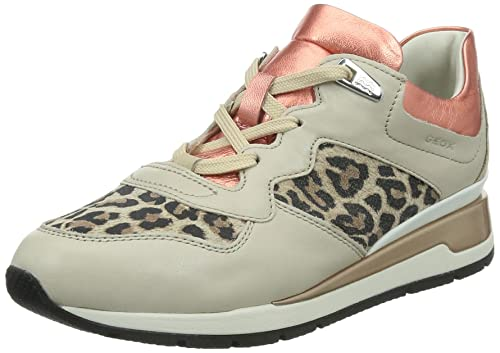 f0fa43ac99c Geox Women's D Shahira A Low-Top Sneakers Beige Size: 4: Amazon.co ...