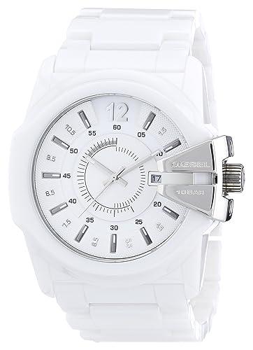 Diesel Master Chief DZ1515 - Reloj analógico de Cuarzo para Hombre, Correa de cerámica Color Blanco: Amazon.es: Relojes