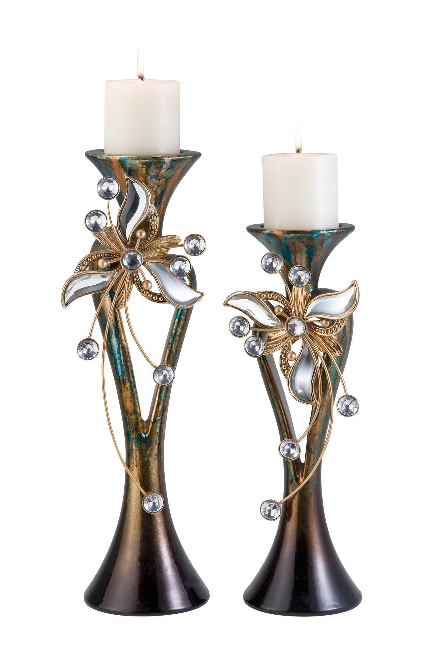 OK Lighting Florria Candleholder Set with Out Candles