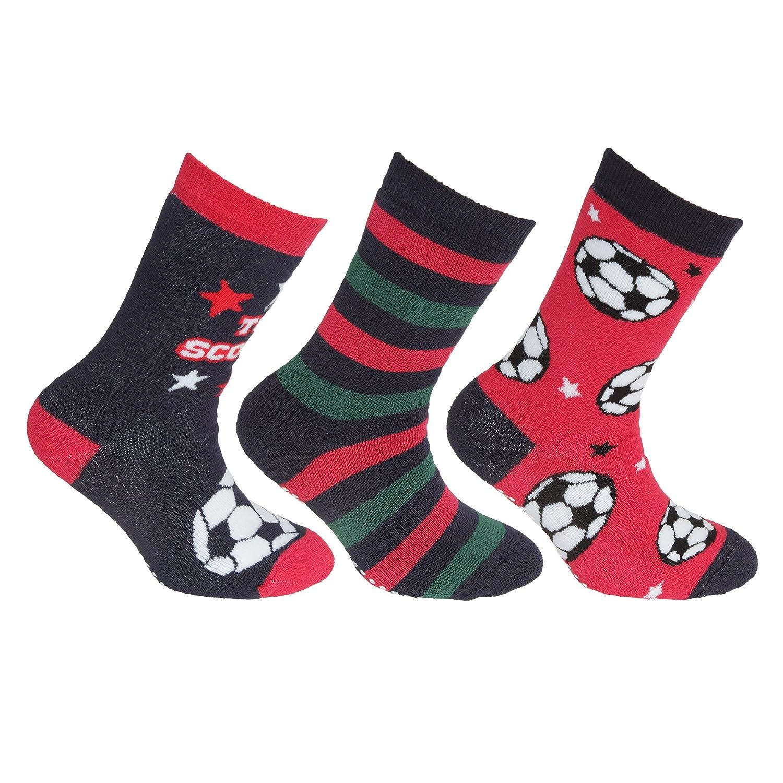 FLOSO Childrens/Kids Retro Gripper Socks (3 Pairs) UTK353