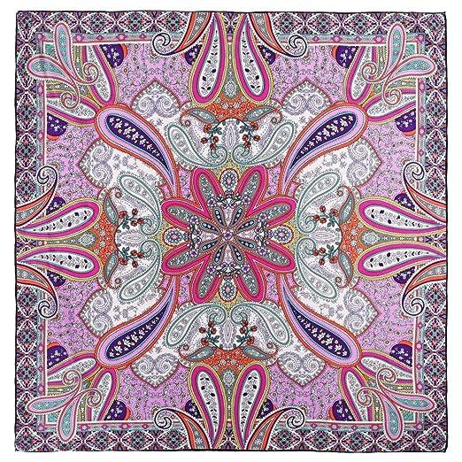 Allée du foulard Carré de soie Premium Jaipur rose - 85x85 cm  Amazon.fr   Vêtements et accessoires a2b324102ef