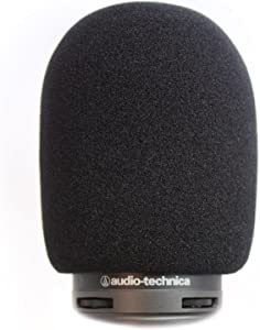 AT2020 Foam Windscreen by Vocalbeat - The Perfect Pop Filter for Your Audio Technica Microphone - Made from Quality Sponge Material that Filter Unwanted Recording Noises - Black Color