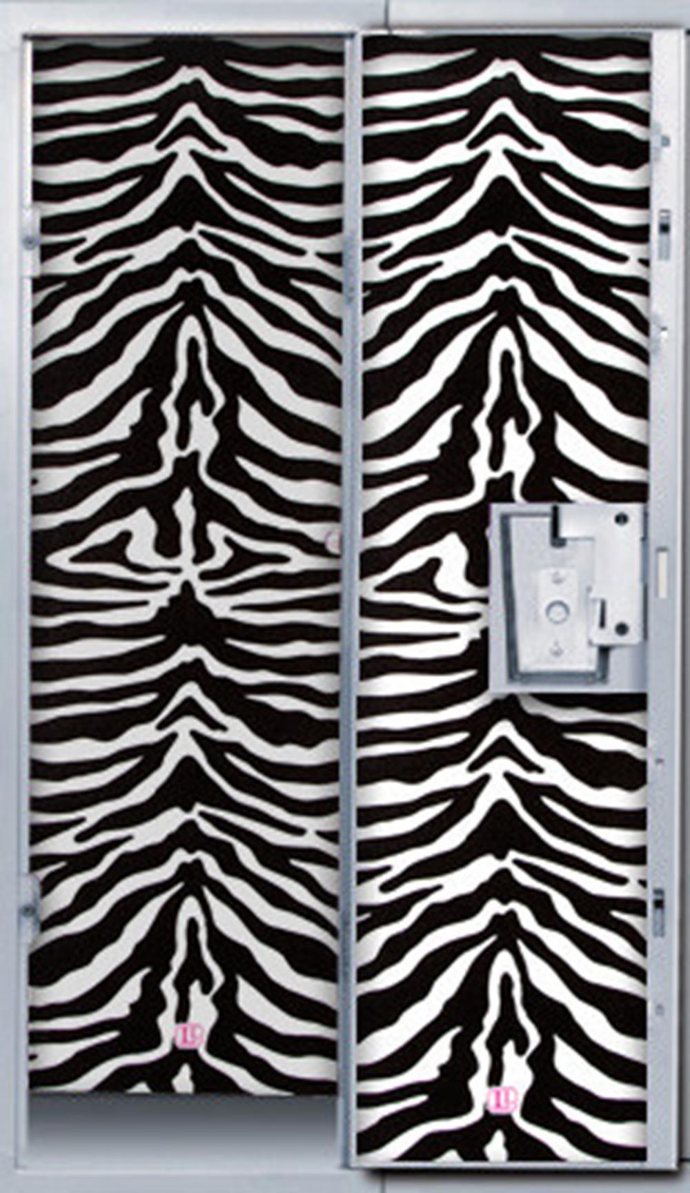 Darice 4 Panels Locker Lookz Wallpaper, Black and White Zebra