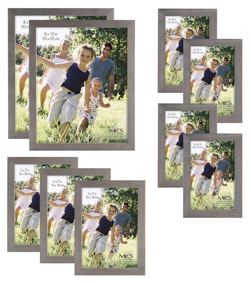 MCS Gallery Wood 9-Piece Frame Set, Grey (65617) by MCS
