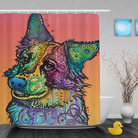 Get Naked Fabric Shower Curtain Set with Bathroom Mat Free 12PCS Hooks 71inches